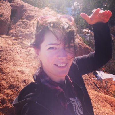 Erica Sparks, Licensed Massage Therapist, Registered Yoga Teacher, at Garden of the Gods Park